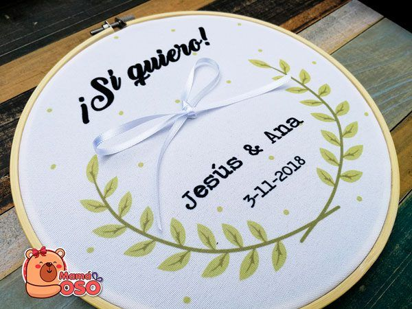 Bastidor boda diseño laureles
