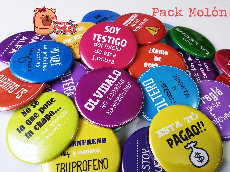 Pack 25 Chapas Divertidas Boda Pack Molón