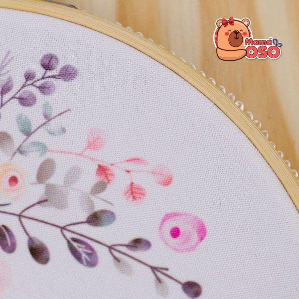 Bastidor flowers detalle