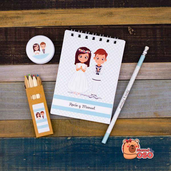 Libreta personalizada comunión niño y niña
