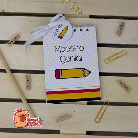 libreta regalo para maestros