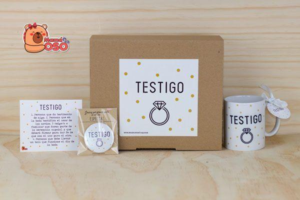 kit de regalo testigo boda
