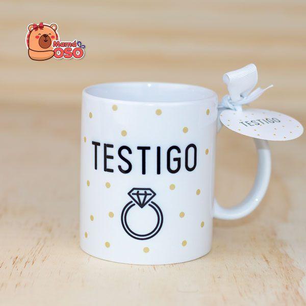 taza para testigo de boda personalizada