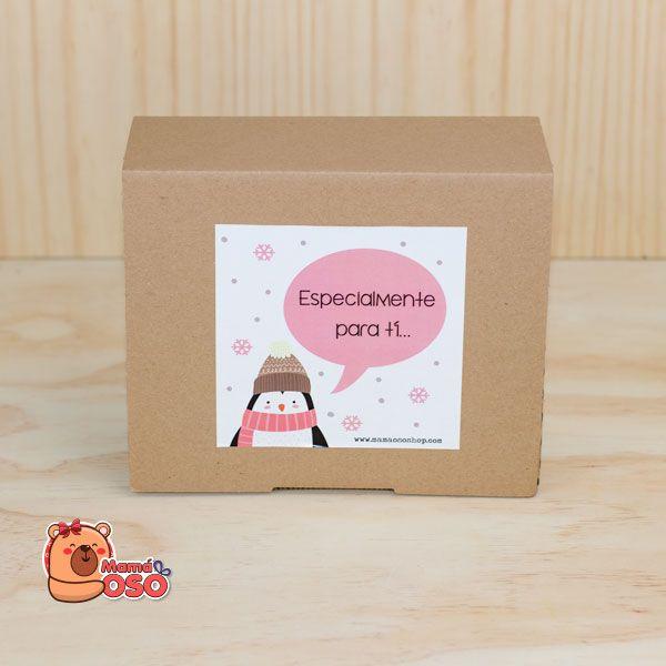 Regalo para amigo invisible kit navidad pinguino