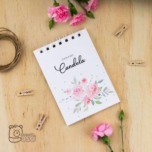 Libreta personalizada comunión niña rosas
