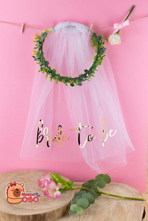 Corona bride to be eucalipto