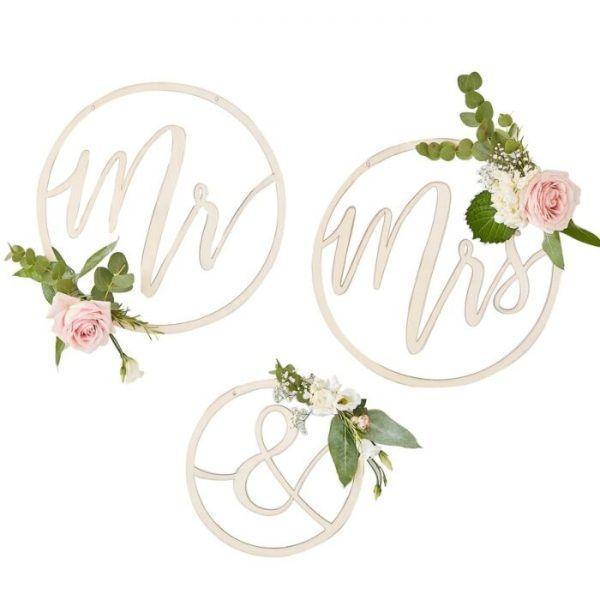 Decoración para boda sr y sra