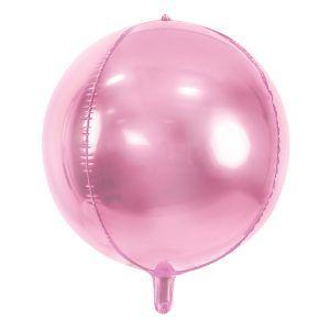Globo redondo foil rosa