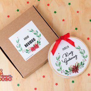 Bastidor navideño personalizado familia