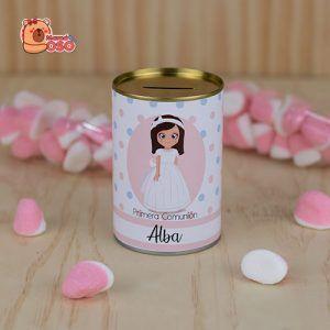Hucha comunión niña personalizada colección Alba