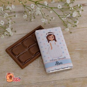 chocolatina comunión personalizada