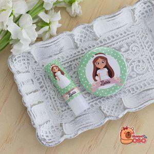 Espejito y bálsamo personalizado comunión para niña