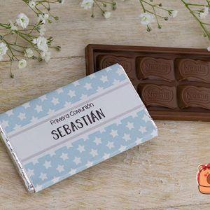chocolatina personalizada comunión niño
