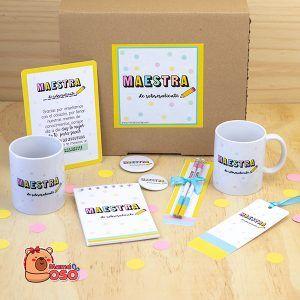 Super kit maestra de sobresaliente con taza