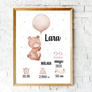 Lámina de nacimiento personalizada